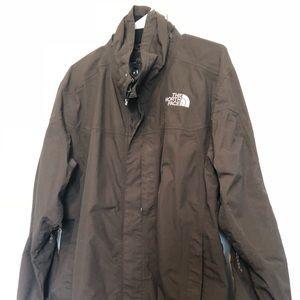 Large, The North Face Waterproof Dark Brown Jacket